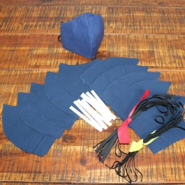 DIY Face Mask Kit - 10 Face Masks - Navy