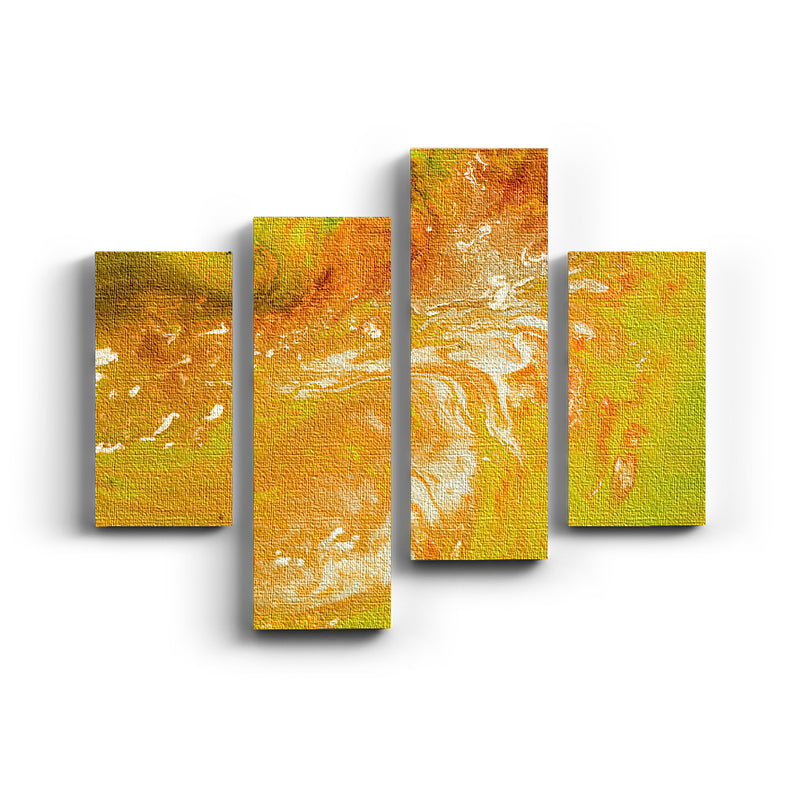 Collage split Canvas Yellow mix - balcru