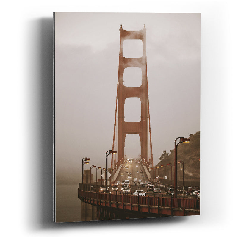 Cuadro aluminio Arman digital art San Francisco Golden gate bridge - balcru