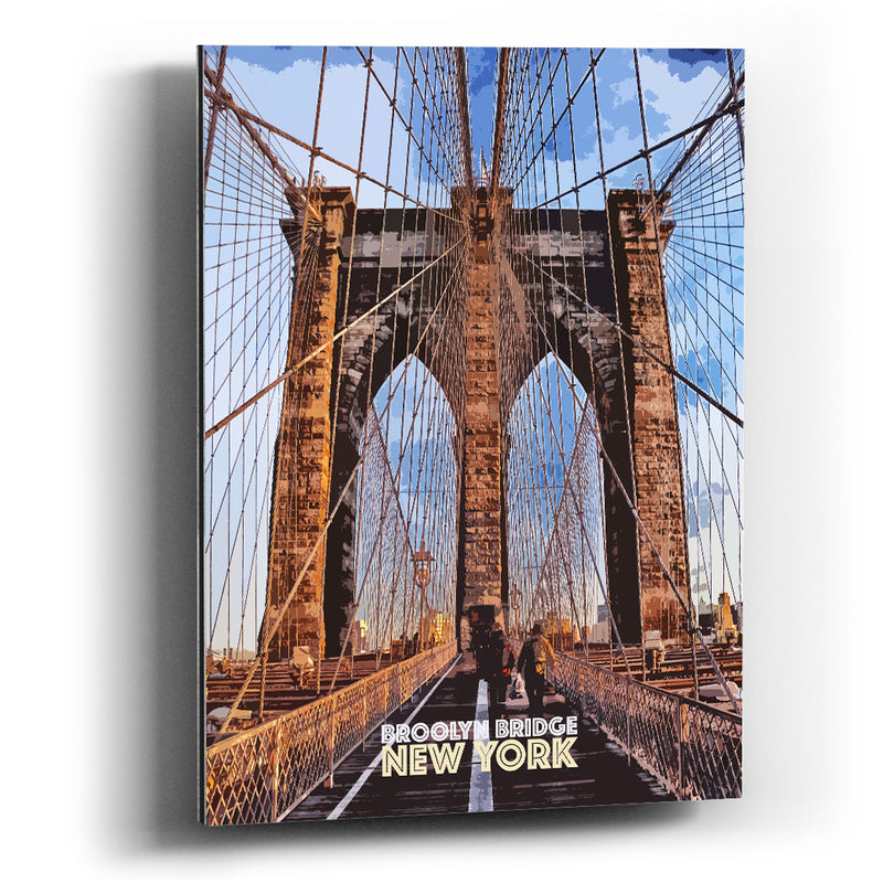 Cuadro aluminio Brooklyn bridge - balcru