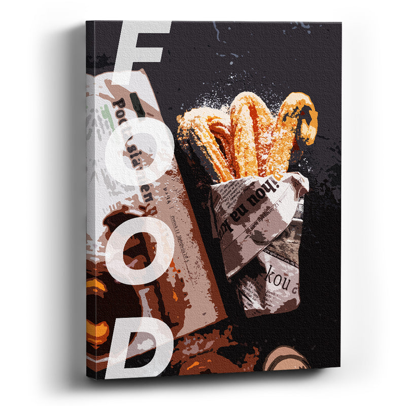 Cuadro canvas Churros con chocolate - balcru