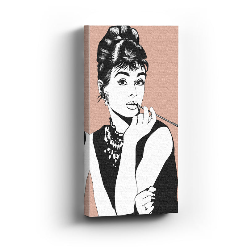 Cuadro canvas Audrey Hepburn Illustration - balcru