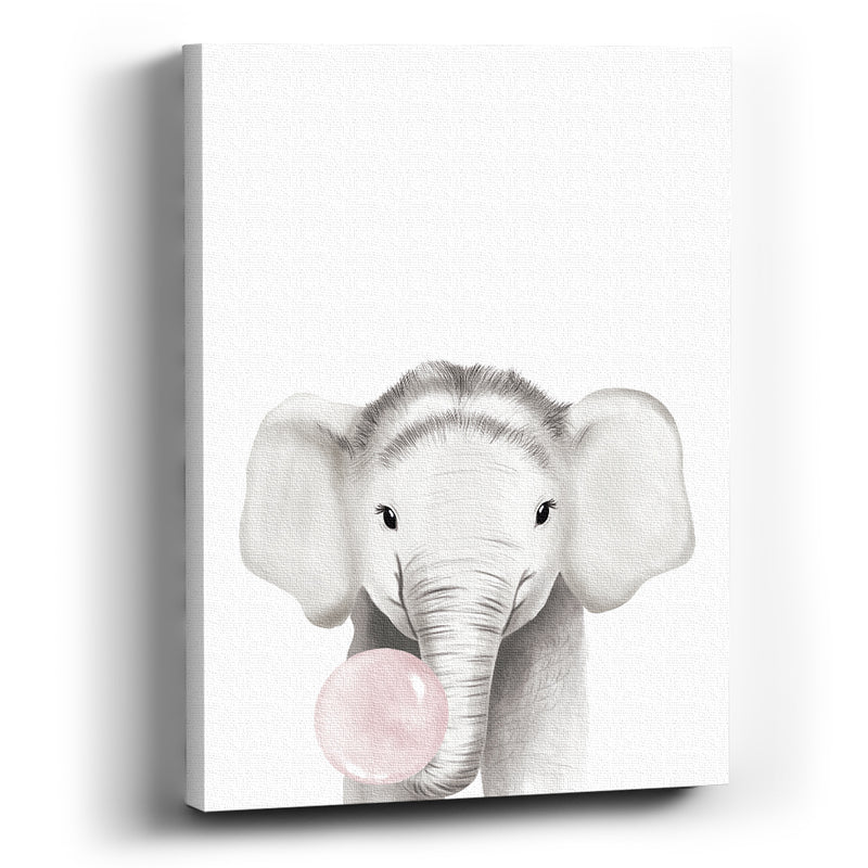 Cuadro Canvas Elefante bubble gum - balcru