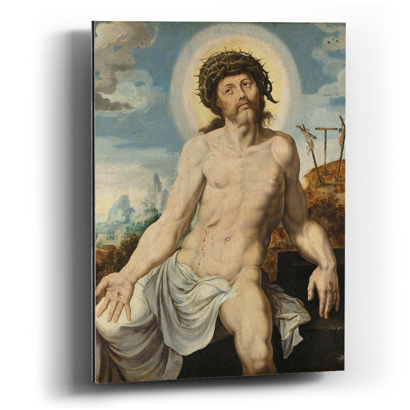 Cuadro aluminio Christ as the Man of Sorrows Maarten van Heemskerck - balcru