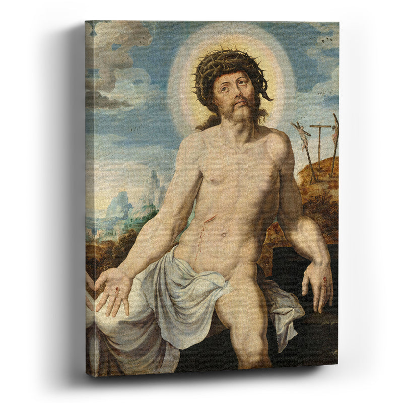 Cuadro canvas Christ as the Man of Sorrows Maarten van Heemskerck - balcru