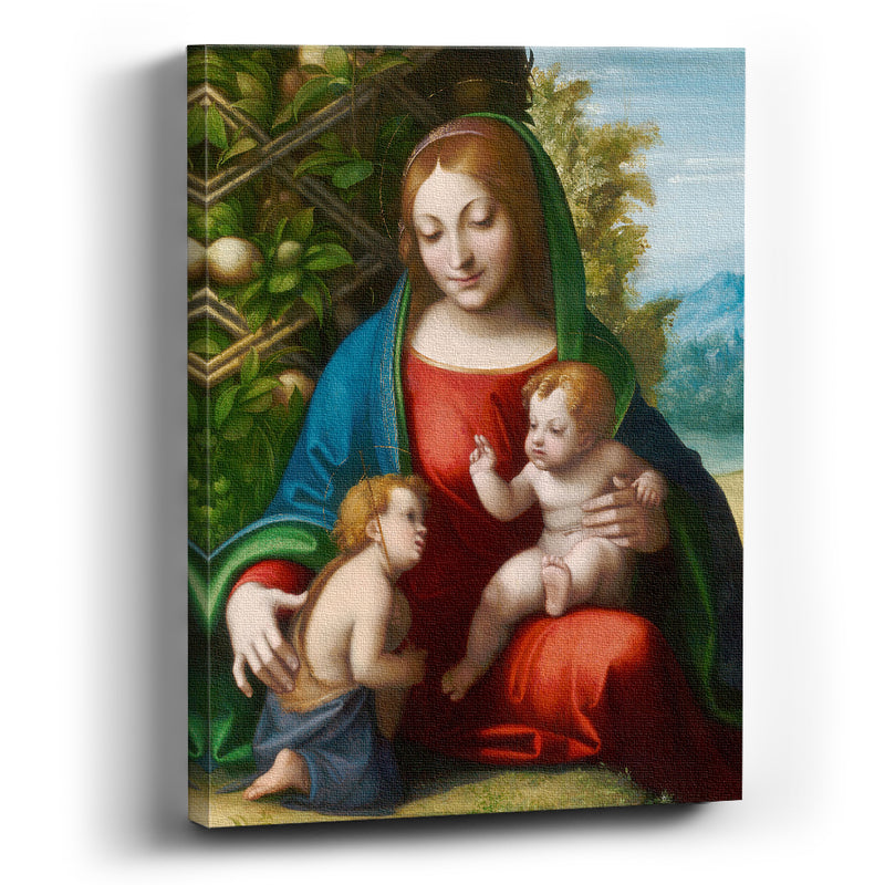 Cuadro canvas Virgin and Child with the Young Saint John the Baptist - balcru