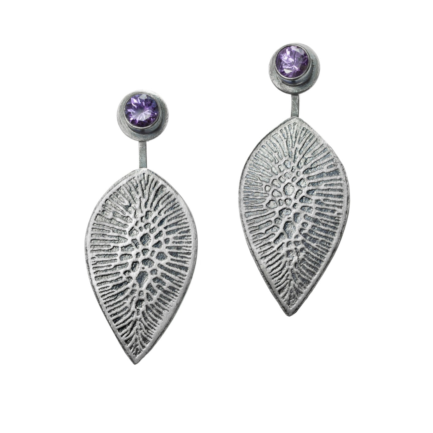 Tanzanite Crackle Earrings