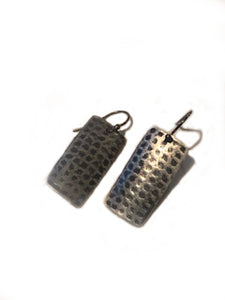 Waffle textured earrings