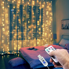 LED Curtain Lights with Remote Control - Impact Owl