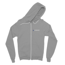Load image into Gallery viewer, KABANC WHITE TEXT Classic Adult Zip Hoodie