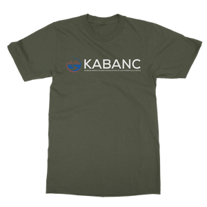 KABANC WHITE TEXT Classic Heavy Cotton Adult T-Shirt