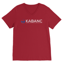 Load image into Gallery viewer, KABANC WHITE TEXT Premium V-Neck T-Shirt