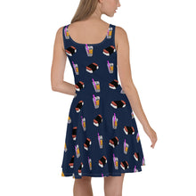 Load image into Gallery viewer, Olivia Skater Dress Navy