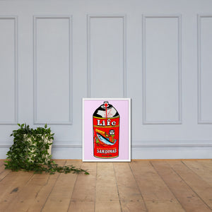 Sardines Pop Framed poster
