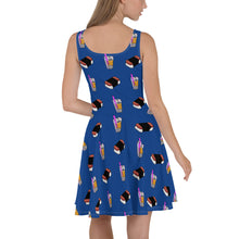 Load image into Gallery viewer, Olivia Skater Dress Dark Blue
