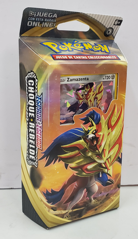 Pokemon Sowrd & Shield Cheuqe Rebelde Zamazenta Baraja