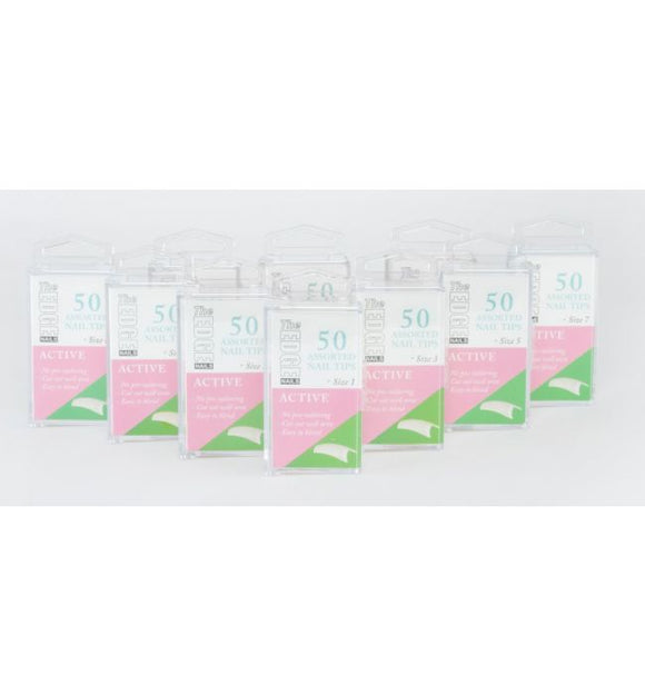 The Edge Active Nail Tips (Size 1) - Boxes of 50 Tips