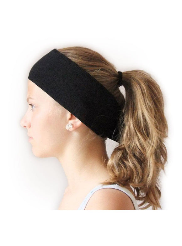 HEADBAND WITH VELCRO (WHITE/BLACK)