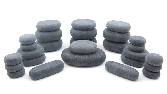 Stacked hot stones