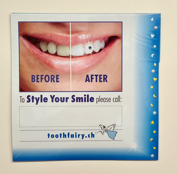 Tooth Fairy Window Poster