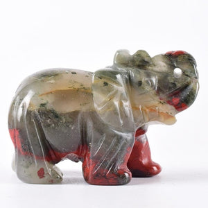2 Inch Crystal Elephant Figurines Hand Carved