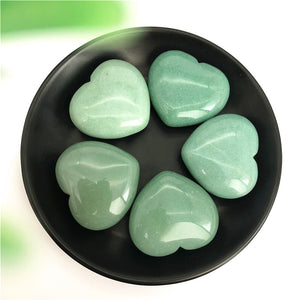 1 Piece Natural Green Aventurine Hearts