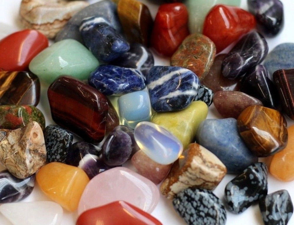 Mixed Tumbled Stones 1kg Bag
