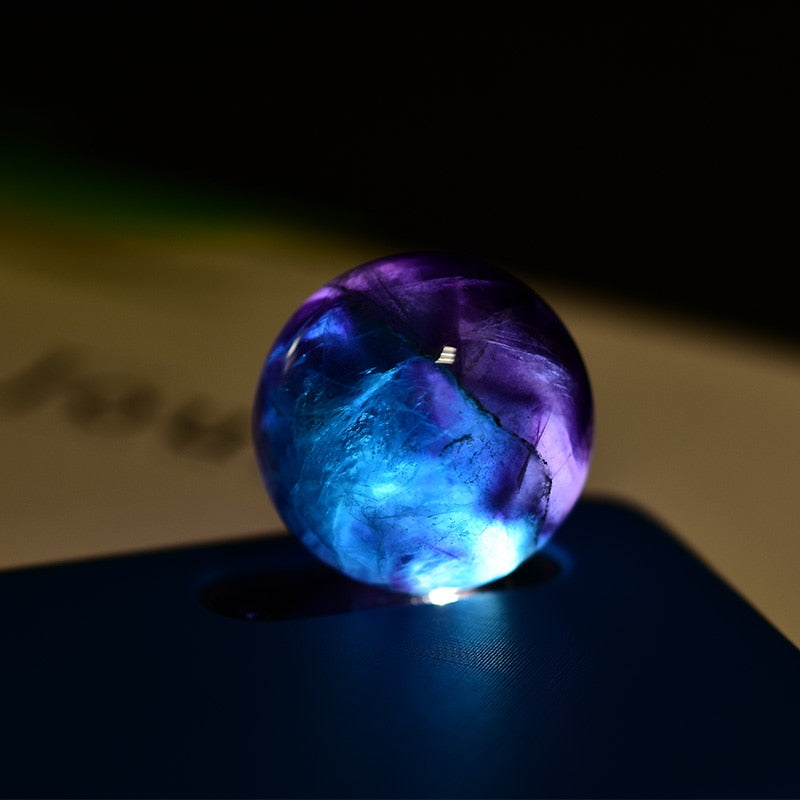 1pc Fluorite Quartz Crystal Ball