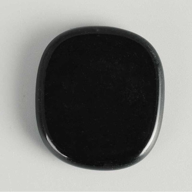 Black Obsidian Palm Stone 25*22*5mm