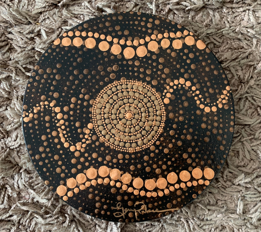 20cm Round Artwork  - PAINTING - pre-order for delivery in November 2020