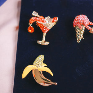 No Regrets Brooch Set