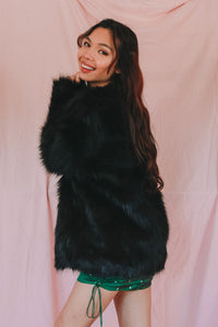 There's A Wolf Faux Fur Coat