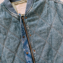 Load image into Gallery viewer, Can't Quilt Denim Jacket