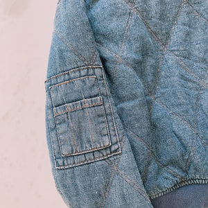 Can't Quilt Denim Jacket