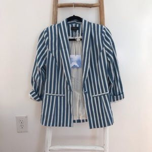 Walking On A Thin Line Blazer by Marjorelle