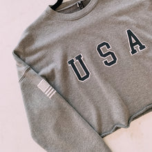Load image into Gallery viewer, Just An American Cropped Sweater