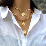 3 coins Necklace