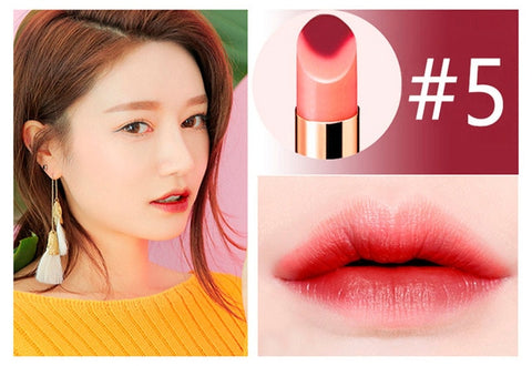 Brand NOVO Two tone Lipstick Long-lasting Lip balm Silky Moisturzing Nourishing Lipstick Makeup Waterproof 6 color New hot sale