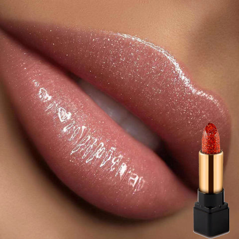 7 Color Diamond Glitter Shimmer Lipstick Long Lasting Waterproof Pearl Diamond Shinning Makeup Lip Rouge Lipstick Color Changing