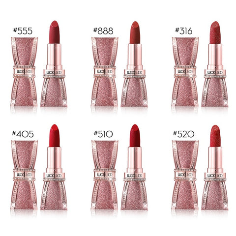 Natural Starry Butterfly Shape Matte Lipstick Gold Sands Gold Powder Lipstick Waterproof Lasting Beauty Makeup Wholesale