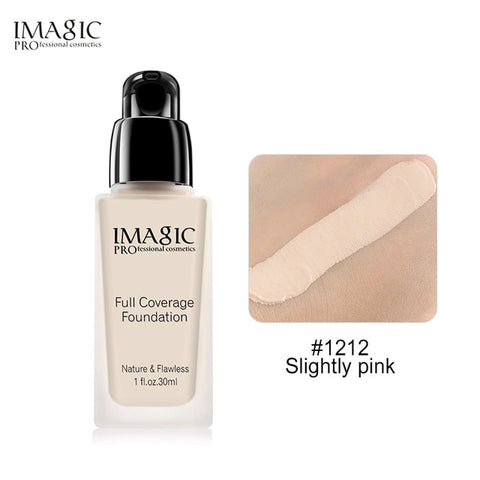 IMAGIC Liquid Foundation Liquid Makeup Concealer Full Coverage Oil control Lasting Facial Makeup Foundation Cream