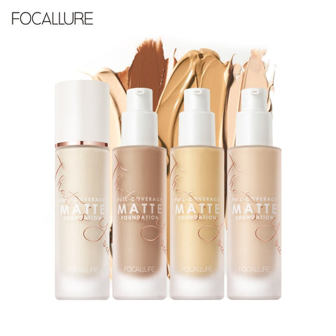 Focallure full coverage foundation Long-wear Matte Finish Flawless fade blemishes buttery soft 20 shades even skin tone