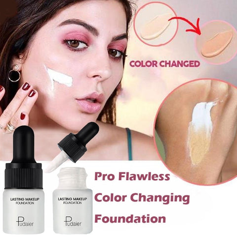 Change Color Liquid Foundation for Face Concealer Lasting Brighten Up Complexion Professional waterproof Base Makeup Cream