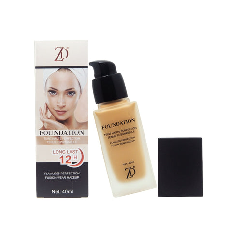 ZD 1Pc Professional Face Base Make Up Long Lasting Brighten Mineral Concealer Whitening Liquid Base Foundation Makeup B8009