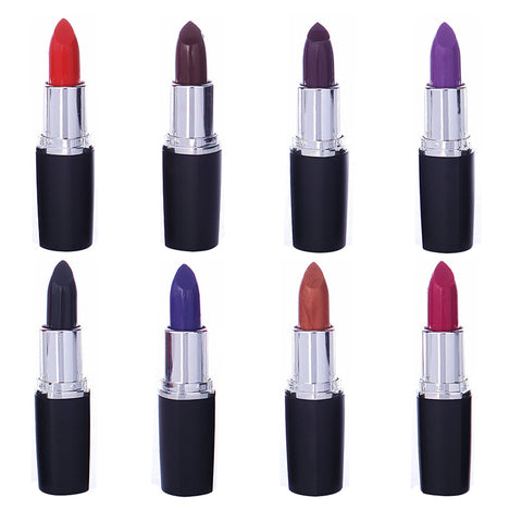 Brand Professional Lipgloss Bold Vivid Color Dark Red Black Grape Purple Red Blue Lipsticks