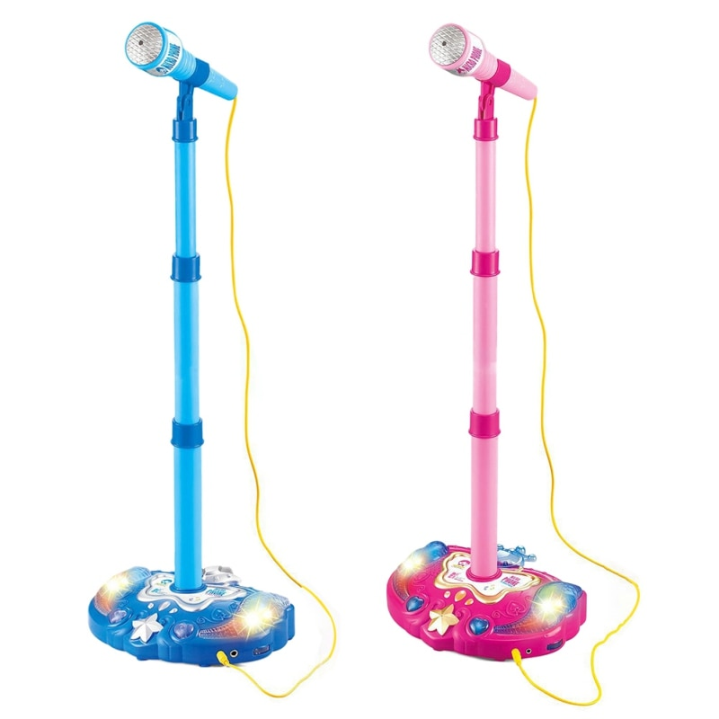 Kids Karaoke Microphone Musical Instruments Children Plastic Cartoon Design Birthday Gifts Intelligence Development Toys