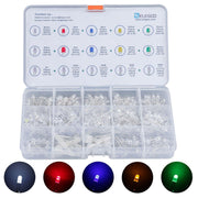 ELEGOO LED Assortment Kit for Arduino (Pack of 600/350, 5 Colors, 3mm and 5mm) Arduino STEM Kits elegoo-shop Pack of 350