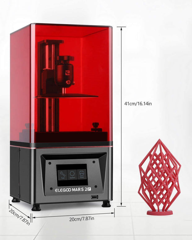 ELEGOO Mars 2 Pro Mono LCD MSLA Resin 3D Printer with Air Purifier 3D Printers elegoo-shop