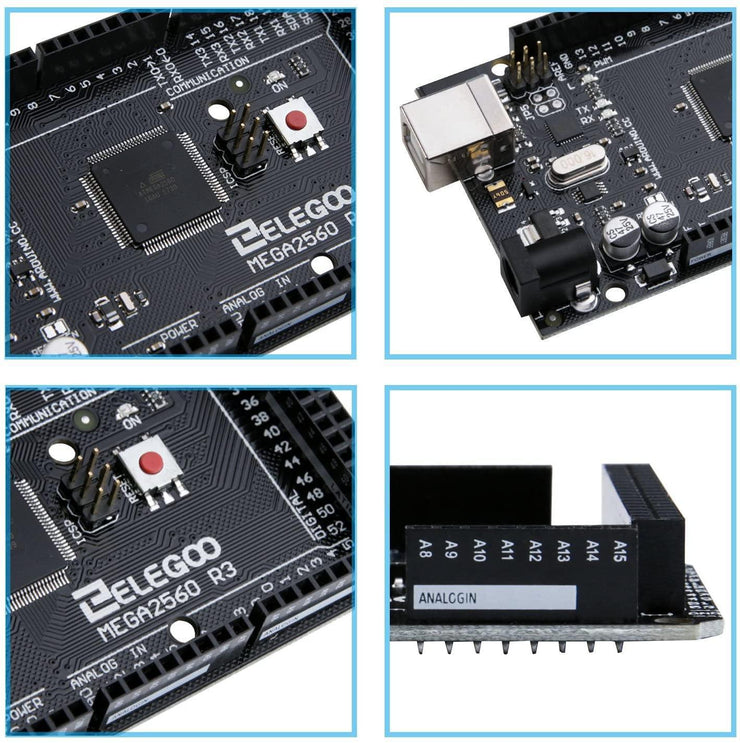 ELEGOO MEGA 2560 R3 Board with USB Cable Compatible with Arduino IDE Arduino STEM Kits elegoo-shop