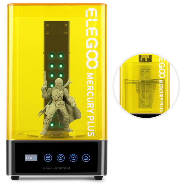 ELEGOO Mercury Plus Washing & Curing Machine for LCD/DLP/SLA Printed Models 3D Printer Accessories elegoo-shop